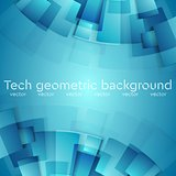 Abstract blue geometric technology background