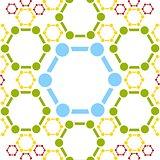 Vector background of molecule structure. Medical design