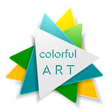 Abstract bright triangle logo design