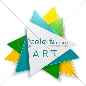 Abstract bright triangle logo design
