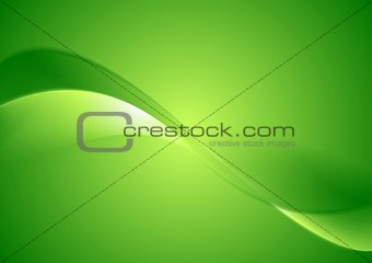 Abstract green smooth waves background