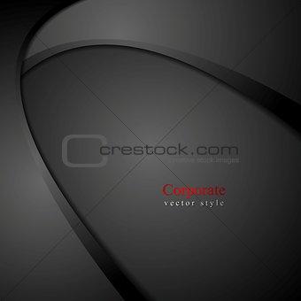 Abstract dark wavy corporate background