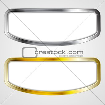 Abstract silver and golden frames