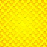 Bright yellow abstract shapes background texture