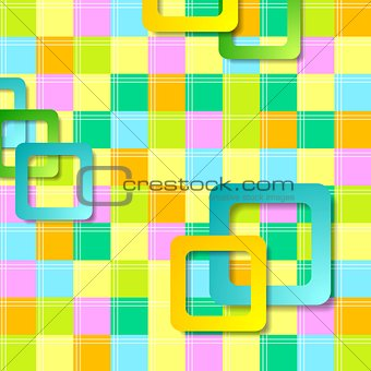 Abstract colorful squares pattern design