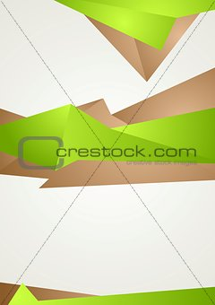 Abstract green brown shapes modern flyer design
