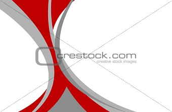 Abstract red grey wavy background
