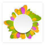 Abstract bright flower vector design