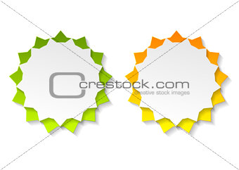Abstract star shape bright stickers