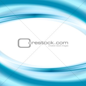 Bright blue smooth waves elegant wallpaper background