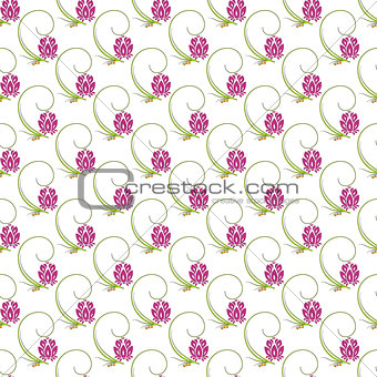 Abstract floral nature seamless pattern design
