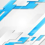Blue grey hi-tech geometric vector bright background