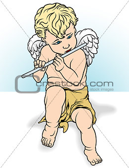 Angel Playing a Flute