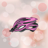 Pink Bike Helmet