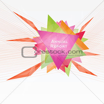 Abstract Background with Triangles and Lines. Annual Report Conc