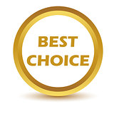 Gold best choice icon