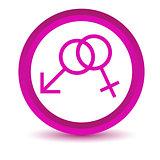 Purple sex icon