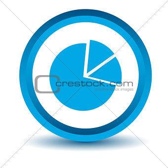 Blue circle chart icon