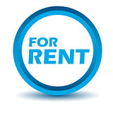 Blue rent icon