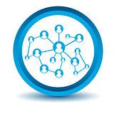 Blue social icon