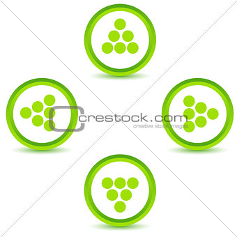 Green arrows icons set