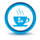 Blue coffee icon