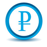 Blue ruble icon
