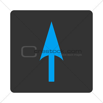 Arrow Axis Y flat blue and gray colors rounded button