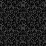 ribbon black isolated seamless background