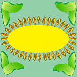 Sunflower abstract nature background postcard