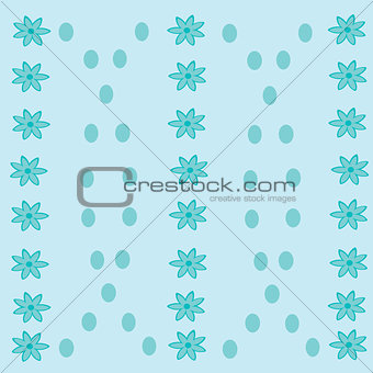 Abstract floral background with dots