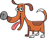 funny dog cartoon illustration