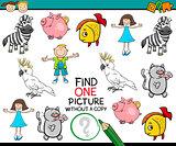 find single picture preschool game