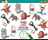 single picture preschool game