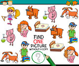 find one picture kindergarten task