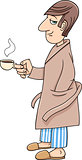 man with coffee cartoon