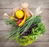 Fresh garden herbs and spices