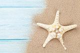 Sea sand with starfish