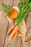 Fresh vegetable smoothie. Carrot juice
