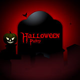 Halloween party tombstone background