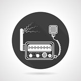 VHF radio black round vector icon