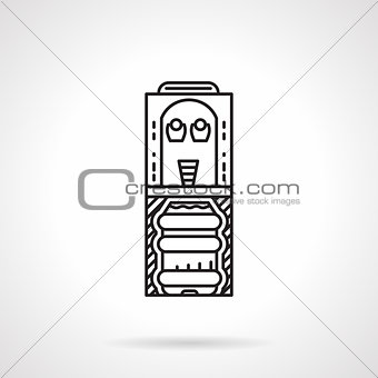Flat line office cooler vector icon