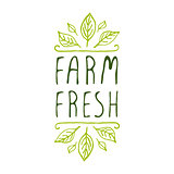 Farm fresh - product label on white background.
