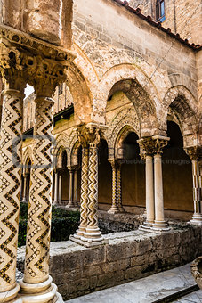 Cloister of the Monreale Abbey, Palermo