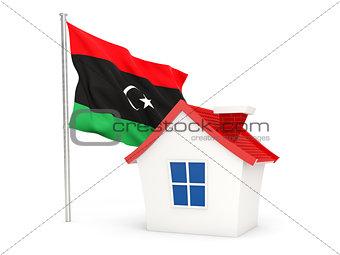 House with flag of libya