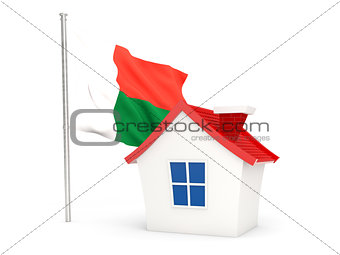 House with flag of madagascar