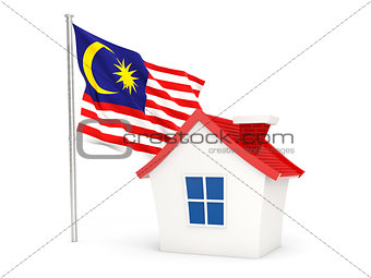 House with flag of malaysia