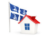 House with flag of martinique