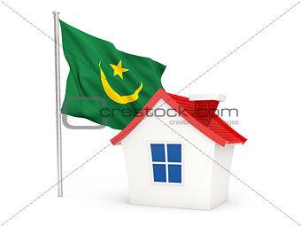 House with flag of mauritania