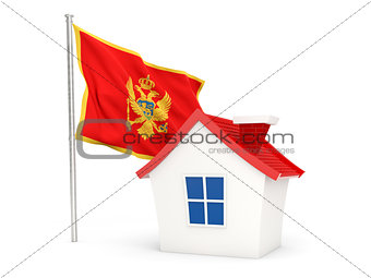 House with flag of montenegro